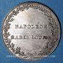 Coins Alsace. Strasbourg. Entrée de l'impératrice en France. 1810. Type IIb. Médaille argent. 32 mm