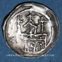 Coins Alsace. Strasbourg. Evêché. Epoque des Hohenstaufen (1138-1220). Denier. Strasbourg vers 1190-1284