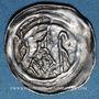 Coins Alsace. Strasbourg. Evêché. Epoque des Hohenstaufen (1138-1284). Denier. Strasbourg vers 1190-1220