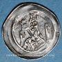 Coins Alsace. Strasbourg. Evêché. Epoque des Hohenstaufen (1138-1284). Denier. Strasbourg vers 1230-1250