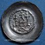 Coins Alsace. Strasbourg. Evêché. Epoque des Hohenstaufen (1138-1284). Denier vers 1230-50