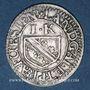 Coins Alsace. Strasbourg. Evêché. François Egon de Fürstenberg (1662-1682). 1 kreuzer n. d.