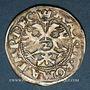 Coins Alsace. Strasbourg. Evêché. Jean de Manderscheid (1569-1592). 2 kreuzers 1573. Molsheim