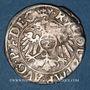 Coins Alsace. Strasbourg. Evêché. Jean de Manderscheid (1569-1592). 2 kreuzers 1590. Saverne
