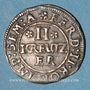 Coins Alsace. Strasbourg. Evêché. Léopold-Guillaume (1625-1662). 2 kreuzers. Molsheim (1627-1630)