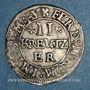Coins Alsace. Strasbourg. Evêché. Léopold Guillaume (1625-1662). 2 kreuzers. Molsheim, (1627-1630)
