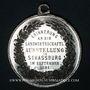 Coins Alsace. Strasbourg. Exposition agricole. 1881. Médaille étain. 37 mm