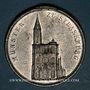 Coins Alsace. Strasbourg. Exposition de machines-outils. 1891. Médaille étain. 33,2 mm