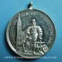 Coins Alsace. Strasbourg. Exposition Industrielle. 1895. Médaille étain. 33,5 mm