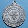 Coins Alsace. Strasbourg. Exposition Internationale. 1875. Médaille zinc. Avec son anneau. 33,2 mm