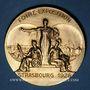 Coins Alsace. Strasbourg. Foire-exposition. 1926. Médaille. Bronze doré. 49,5 mm. Gravée par Ch Isler