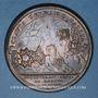 Coins Alsace. Strasbourg fortifiée. 1683. Médaille cuivre. 41 mm. Gravée par Mauger
