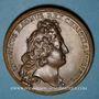 Coins Alsace. Strasbourg fortifiée. Médaille bronze. Frappe postérieure (sans poinçon)