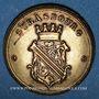 Coins Alsace. Strasbourg. Fritsch, tailleur. Jeton laiton. 21,3 mm