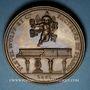 Coins Alsace. Strasbourg. Hommage à Camille Pleyel. 1861. Médaille cuivre