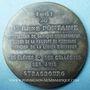 Coins Alsace. Strasbourg. Hommage au docteur René Fontaine. 1961. Médaille argent. 50,5mm. Par René Hetzel