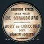 Coins Alsace. Strasbourg. Hospices civils. Médaille argent. 35,31 mm. Poinçon : corne d'abondance