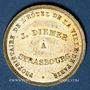 Coins Alsace. Strasbourg. Hôtel de la Ville de Paris (rue de la Mésange) - J. Diemer. Jeton publicitaire