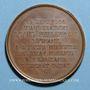 Coins Alsace. Strasbourg. Inauguration de la ligne de chemin de fer de Strasbourg - Bâle. 1841 Médaille br
