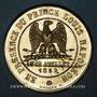 Coins Alsace. Strasbourg. Inauguration de la ligne de chemin de fer Paris-Strasbourg 1852. Médaille bronze