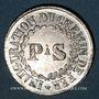Coins Alsace. Strasbourg. Inauguration de la ligne de chemin de fer Paris-Strasbourg. 1852. Médaille étain