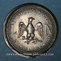Coins Alsace. Strasbourg. Inauguration de la ligne de chemin de fer Paris-Strasbourg 1852. Médaille étain
