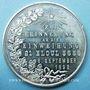 Coins Alsace. Strasbourg. Inauguration de la nouvelle synagogue. 1898. Médaille étain 50,5 mm Signée P. H.