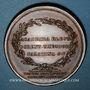 Coins Alsace. Strasbourg. Jean Daniel Schoepflin (1694-1771). Médaille bronze.  40,5 mm