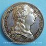 Coins Alsace. Strasbourg. Jubilé du rattachement de Strasbourg à la France. 1781. Médaille argent. 42 mm