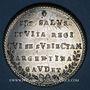 Coins Alsace. Strasbourg. Jubilé du rattachement de Strasbourg à la France 30 sept. 1781. Médaille étain