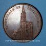 Coins Alsace. Strasbourg. La cathédrale - Réfection du chœur. 1861. Médaille bronze. 59 mm