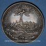 Coins Alsace. Strasbourg. La décapole (17e siècle). Médaille argent. 45,66 mm. Signée: R. G.