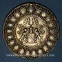 Coins Alsace. Strasbourg. Les corporations (17e siècle). Médaille argent doré. 49,65 mm