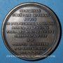 Coins Alsace. Strasbourg. Marie-Madeleine Spielmann († 1750). Médaille en cuivre.  44,7 mm