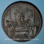 Coins Alsace. Strasbourg. Mausolée du Maréchal de Saxe. (Fin 18e). Médaille fer