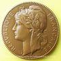Coins Alsace. Strasbourg. Médaille offerte par le député de Strasbourg Emile Koehl. 1986. Bronze. 68,2 mm