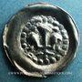 Coins Alsace. Strasbourg. Municipalité (14e - 15e siècle), pfennig au lis