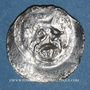 Coins Alsace. Strasbourg. Municipalité. Denier frappé à Gengenbach (1309-1316)