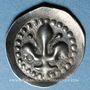 Coins Alsace. Strasbourg. Municipalité. Pfennig au lis biface (14e siècle)