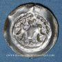 Coins Alsace. Strasbourg. Municipalité. Pfennig biface à l'aigle de face. Offenbourg (1309-1316)