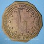 Coins Alsace. Strasbourg. Plaque de guide officiel. Bronze uniface. 50 mm