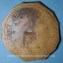 Coins Alsace. Strasbourg. Plaque de guide officiel. Bronze uniface. 50 mm