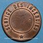 Coins Alsace. Strasbourg. Pompiers. Médaille cuivre. 31 mm