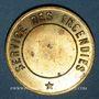 Coins Alsace. Strasbourg. Pompiers. Médaille laiton. 31 mm