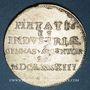 Coins Alsace. Strasbourg. Prix d'Académie. 1683. Jeton argent. 25,76 mm