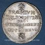 Coins Alsace. Strasbourg. Prix d'Académie. 1686. Jeton argent. 29,46 mm