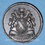 Coins Alsace. Strasbourg. Société Aquarium. 1879. Médaille cuivre. 25 mm