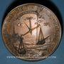 Coins Alsace. Strasbourg. Soumission de Strasbourg. 1681. Médaille cuivre. 61,21 mm. Refrappe