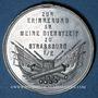 Coins Alsace. Strasbourg. Souvenir du service militaire à Strasbourg. Médaille étain. 35,9 mm