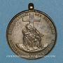 Coins Alsace. Strasbourg. Tiers-ordre de Saint François d'Assise. 1866. Insigne bronze argenté